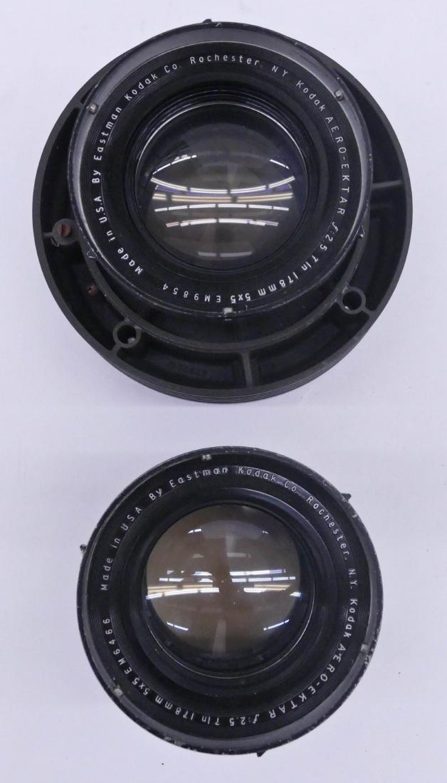 2pc WWII Kodak Aero Ektar F2.5 178mm Lenses. Two large - 2