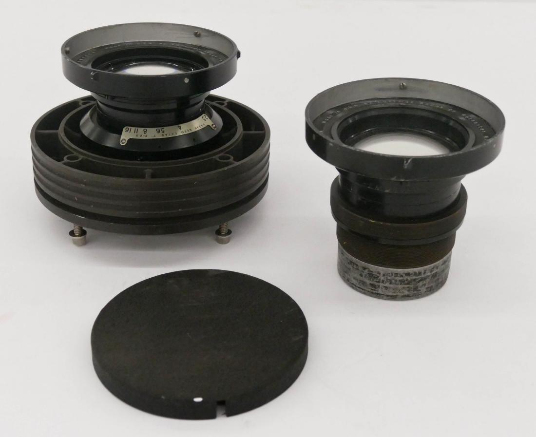 2pc WWII Kodak Aero Ektar F2.5 178mm Lenses. Two large - 3