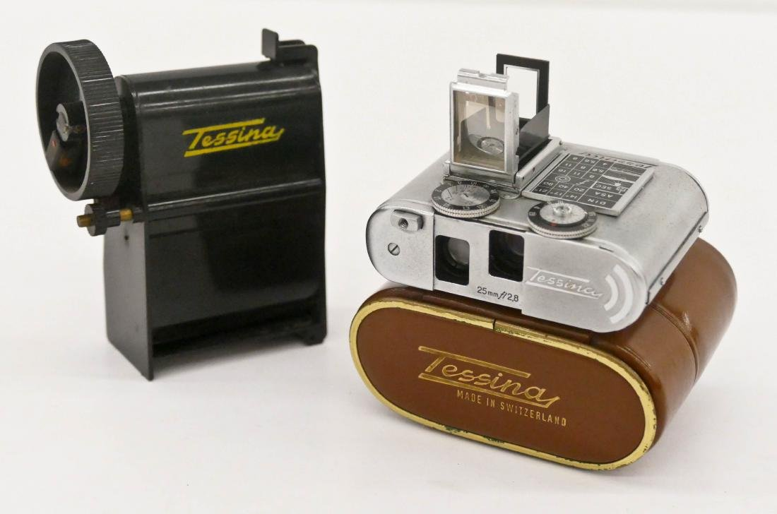 Tessina Automatic 35 Subminiature Spy Camera. Serial