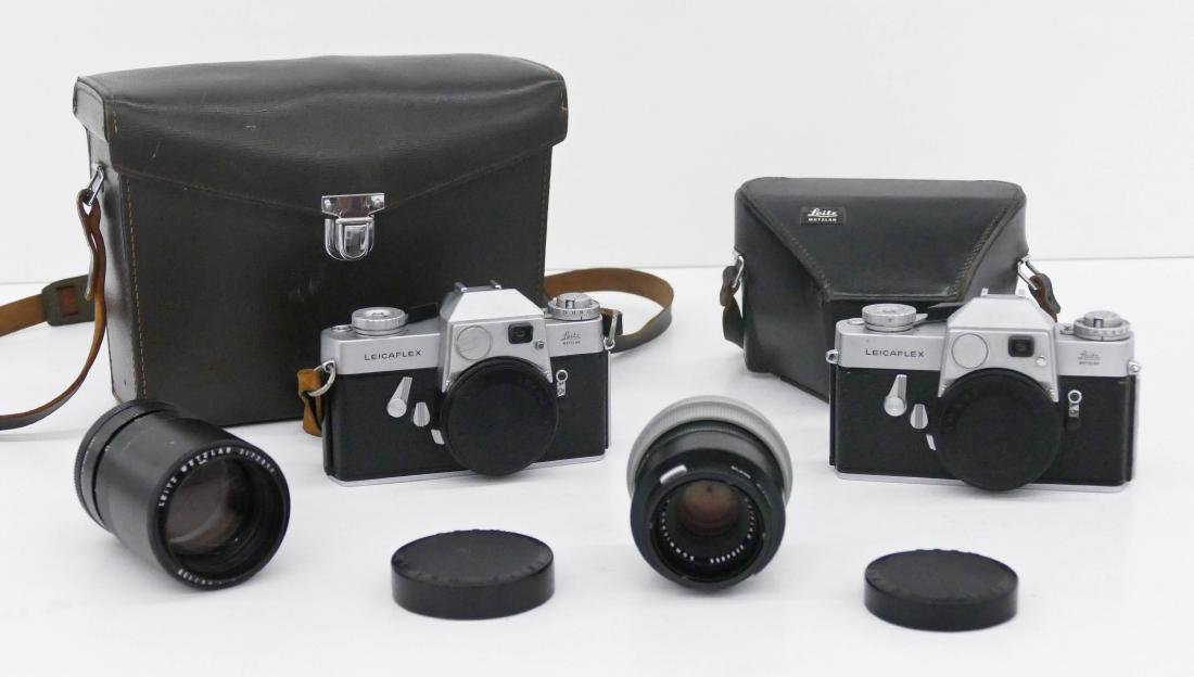 Leicaflex Camera Outfit with Lenses. Includes two