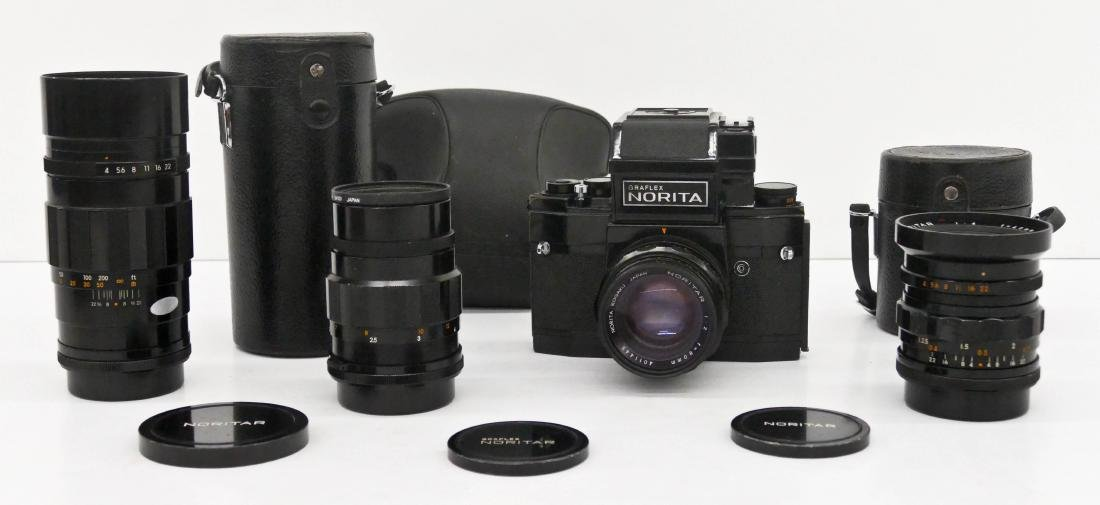 Norita 66 Graflex Camera Outfit with Lenses. Includes a