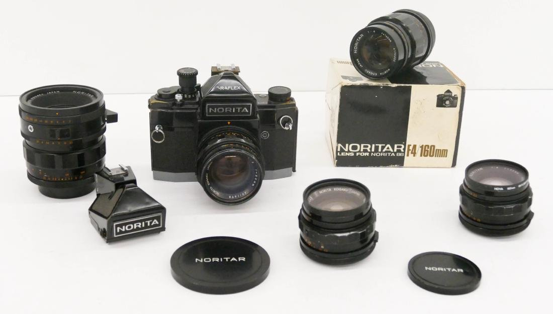 Norita 66 Graflex Camera Outfit with Lenses. Includes a