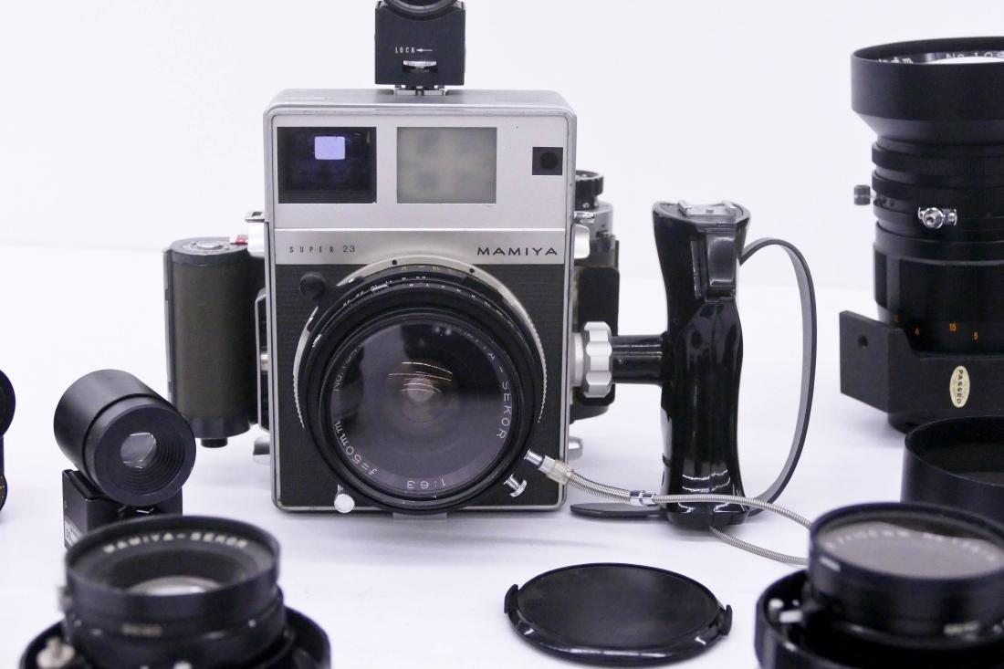Mamiya Super 23 Press Camera Outfit with Many Lenses. - 2