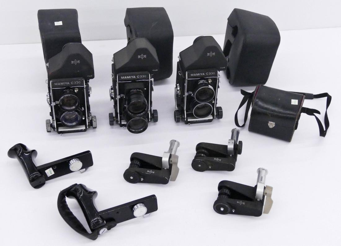 3pc Mamiya C330 TLR Professional Cameras with Lenses. - 2