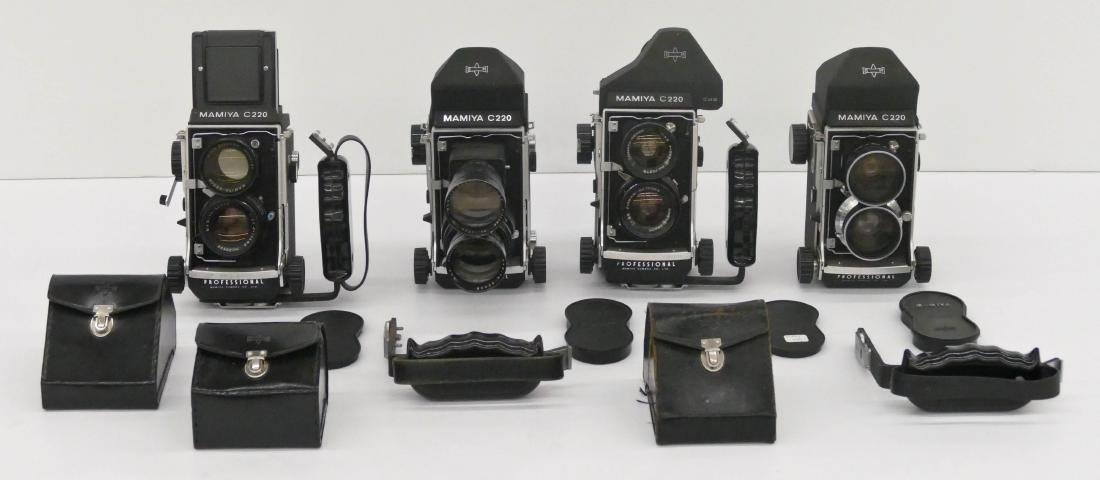 4pc Mamiya C220 TLR Professional Cameras with Lenses. - 2