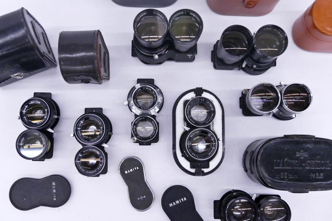 Large Group of Mamiya TLR Lenses & Accessories. Lot - 2