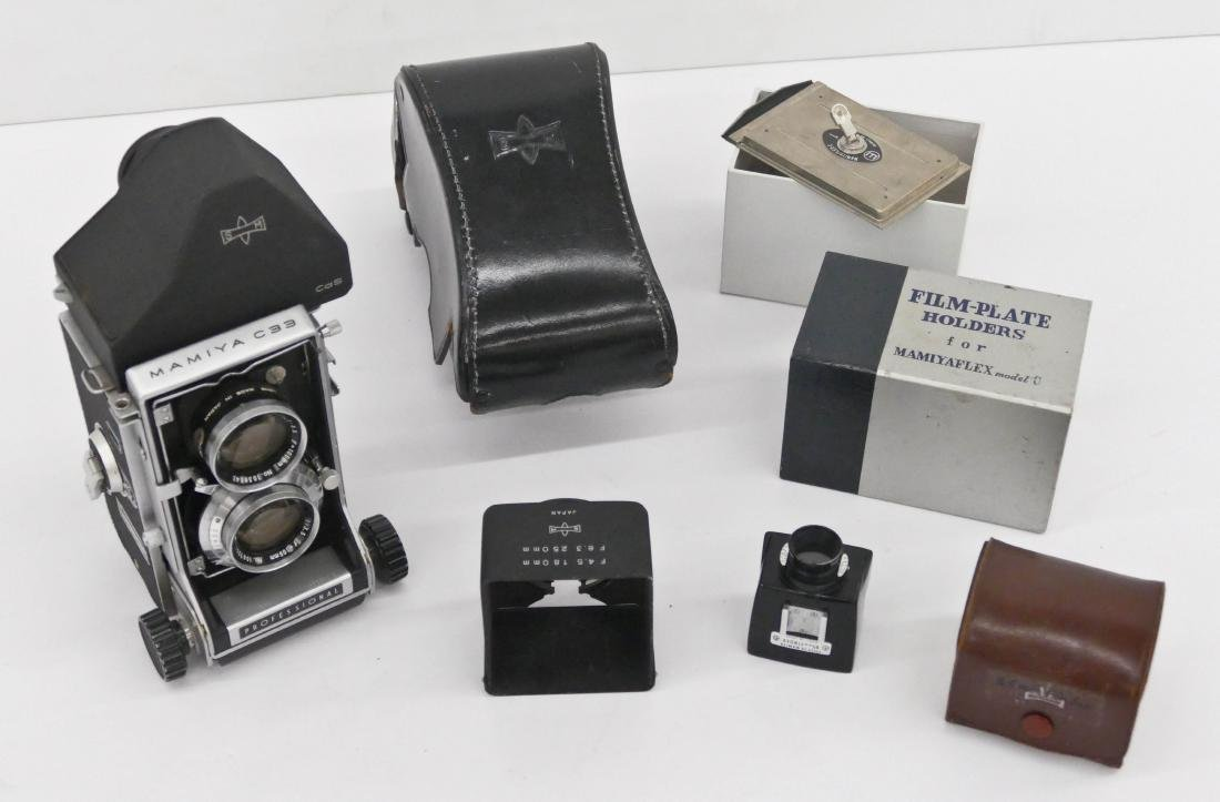 Large Group of Mamiya TLR Lenses & Accessories. Lot - 3