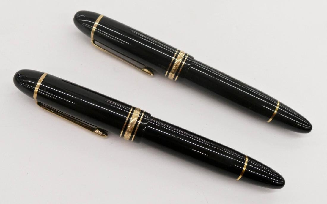 2pc Montblanc Meisterstuck 149 Fountain Pens. Clean