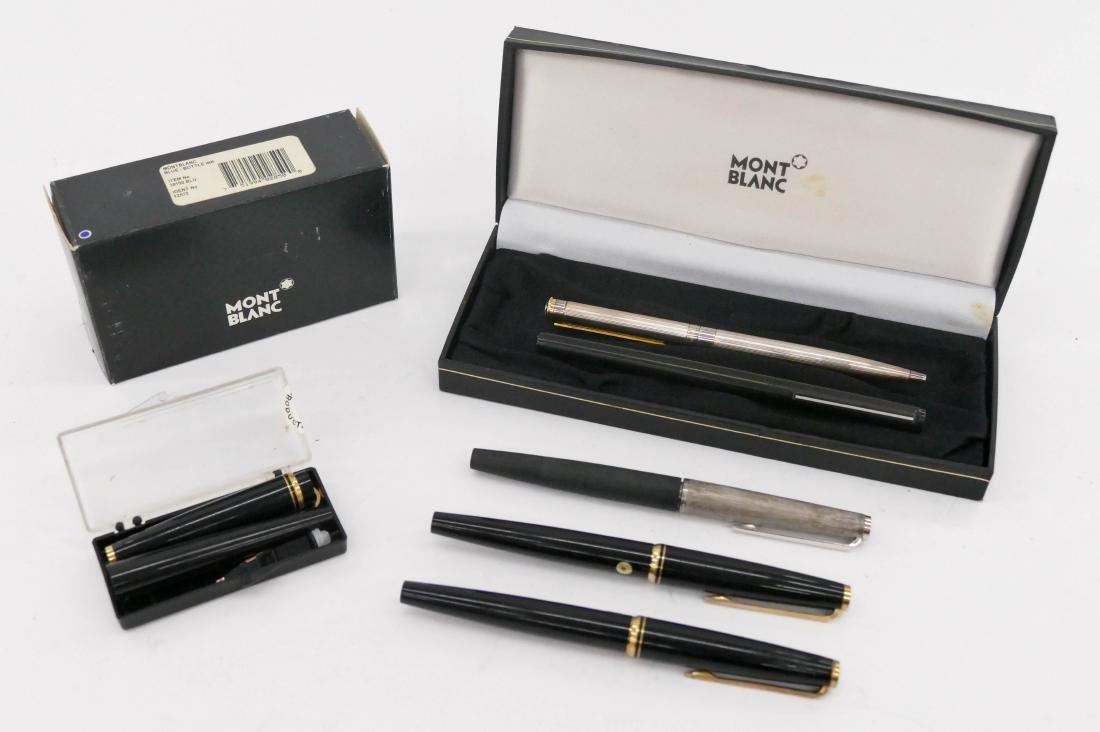 6pc Vintage Montblanc Fountain Pens & Pencil. Includes