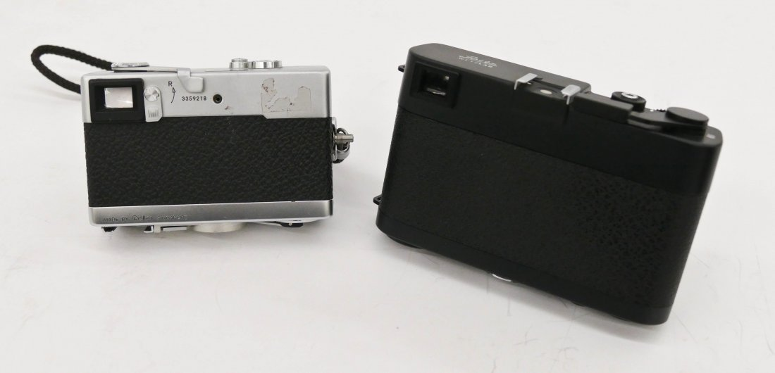 2pc Leica CL and Rollei 35 Cameras. Includes a black bo - 4