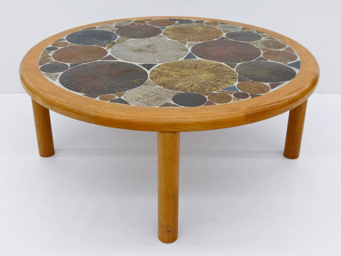Tue Poulsen for Haslev Denmark Round Coffee Table
