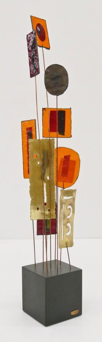 C. Jere Abstract 1967 Table Sculpture 23''x4''. Vintage