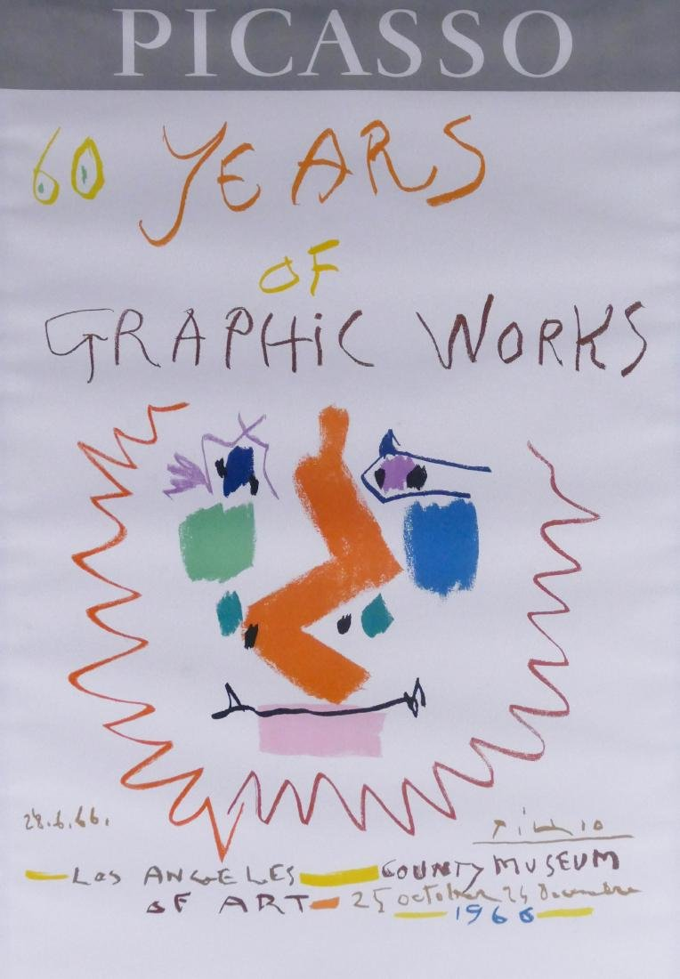 Pablo Picasso ''60 Years of Graphic Works'' 1966