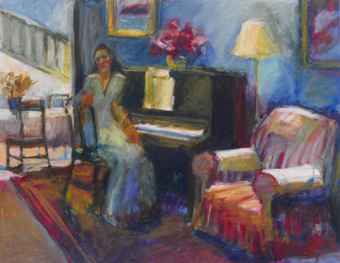 Lois Silver (b.1950 Washington) ''Piano Practice'' 1996