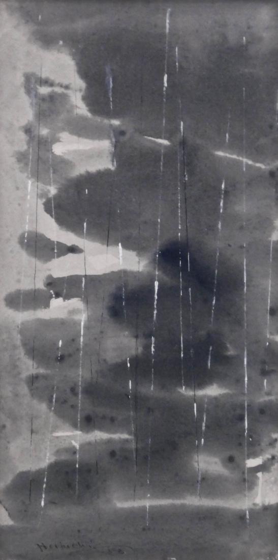 Paul Horiuchi (1906-1999 Washington) ''Rain'' 1958