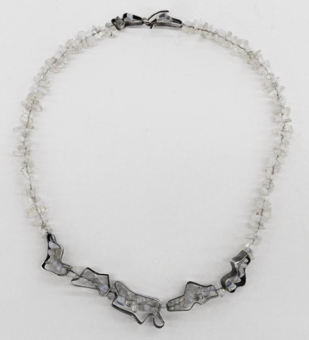 Ron Ho (1936-2017 Washington) Moonstone & Silver Art