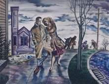 Irwin Caplan (b.1919 Washington) Untitled Street Scene
