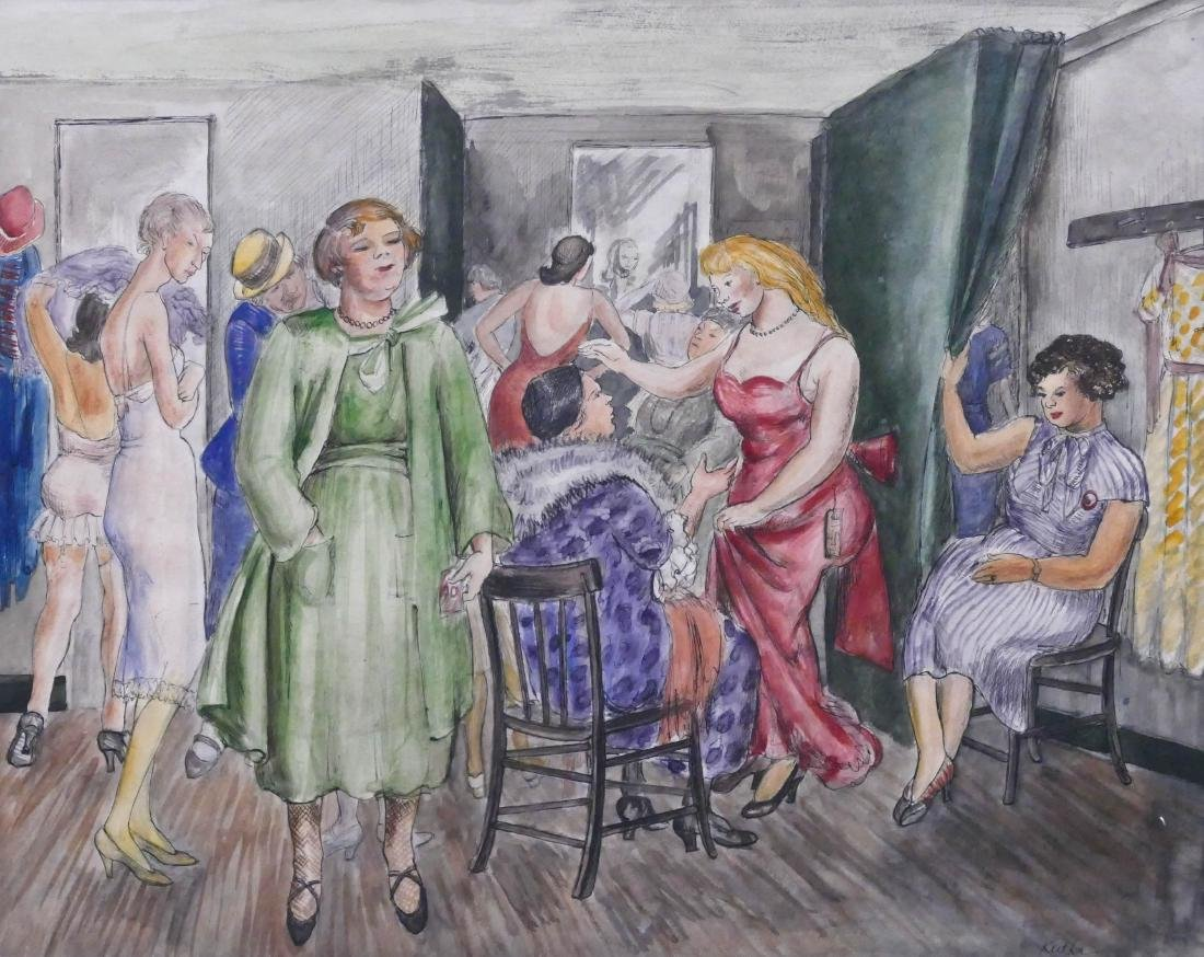 Anne Kutka McCosh (1902-1994 Oregon) ''Dressing Room''