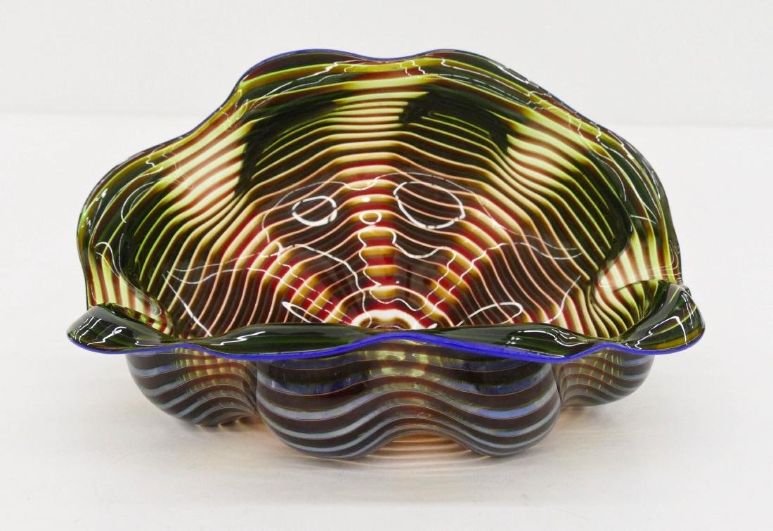 Dale Chihuly (b.1941 American) Green Persian Bowl 1991