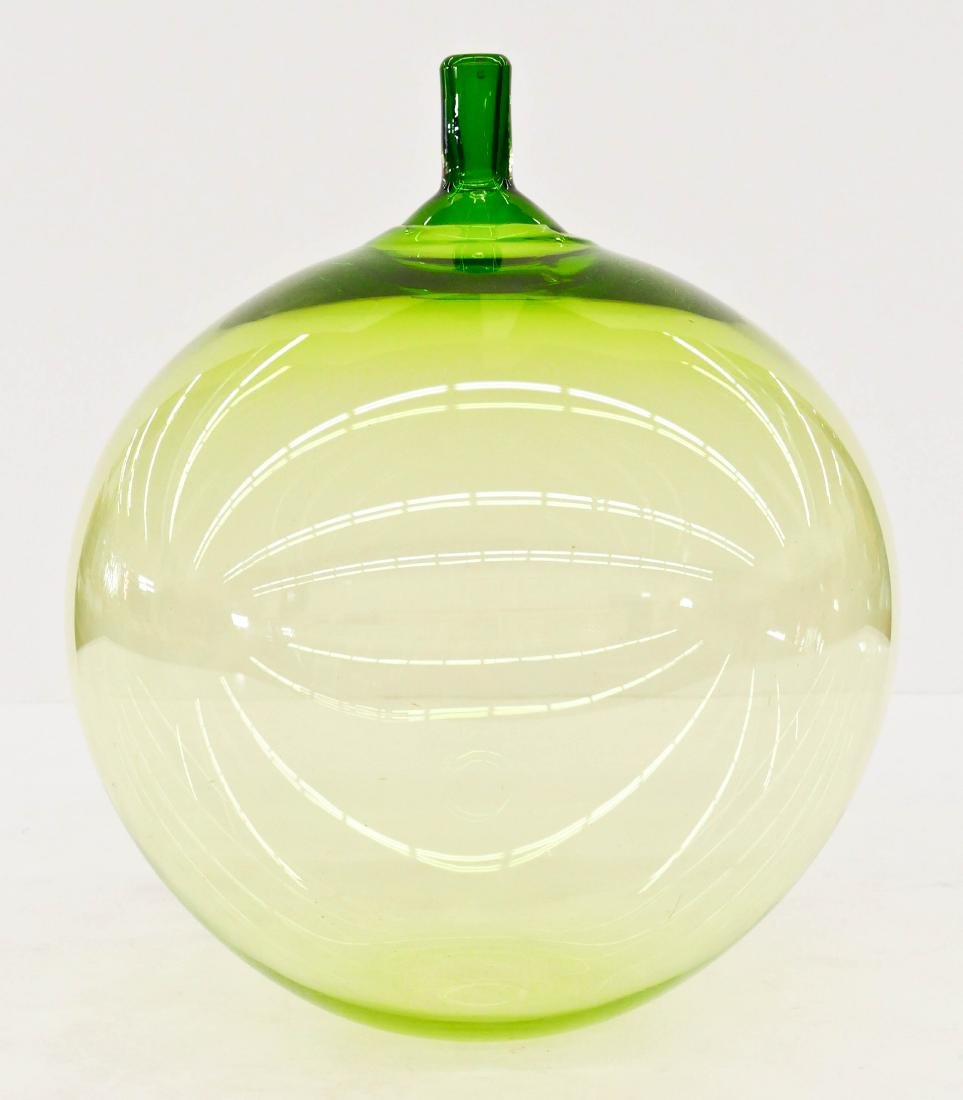 Ingeborg Lundin (1921-1992 Swedish) Green Apple Vase