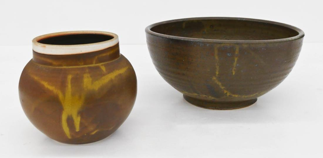 2pc Richard Fairbanks (1929-1989 Washington) Ceramic