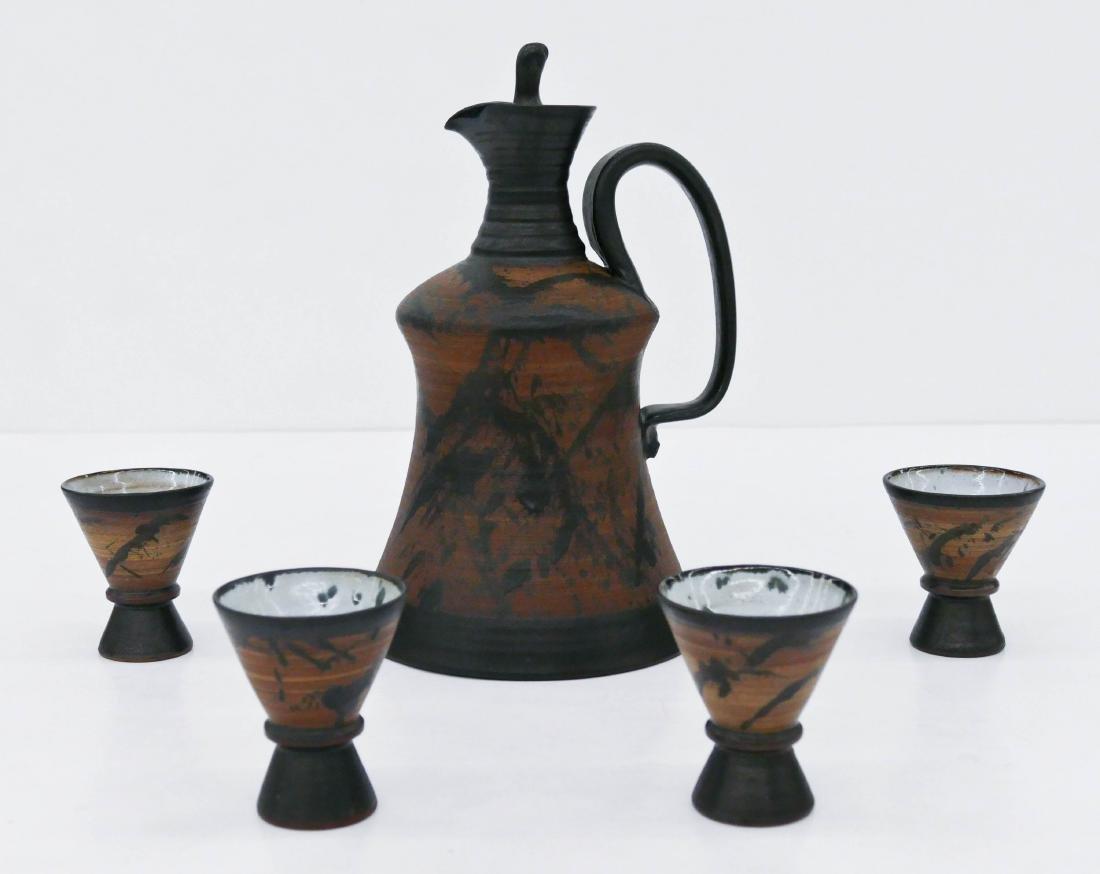 Louis Mideke (1908-1989 Washington) Splash Glazed Sake