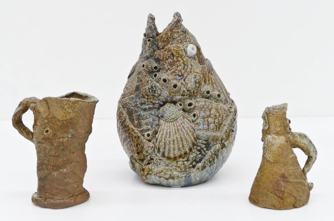 3pc Carl Kishida (1948-2004 Washington) Fish Vessel &