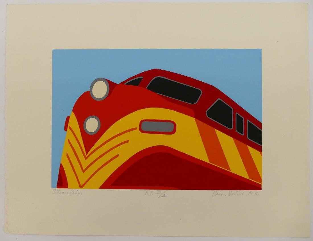 2pc Biron Valier (b.1943 American) Pop Arts Serigraphs.