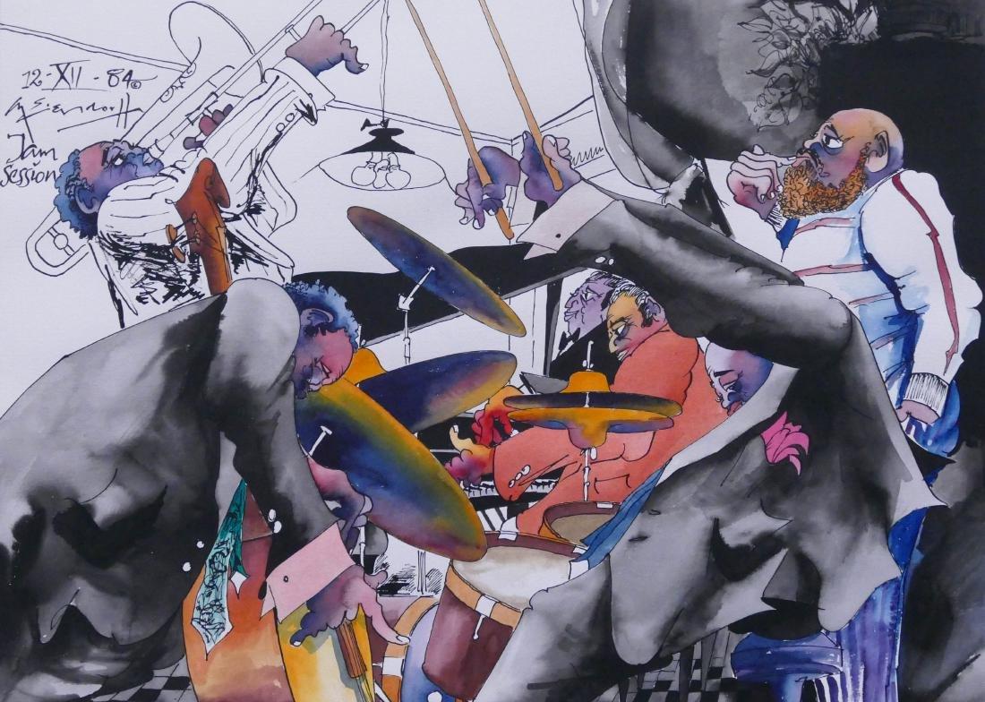 Leo Meiersdorff (1934-1994 American) ''Jam Session''