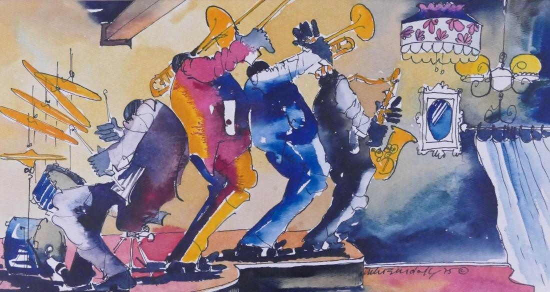 Leo Meiersdorff (1934-1994 American) Untitled Jazz