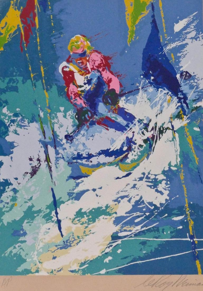 LeRoy Neiman (1921-2012 American) ''Innsbruck'' 1973