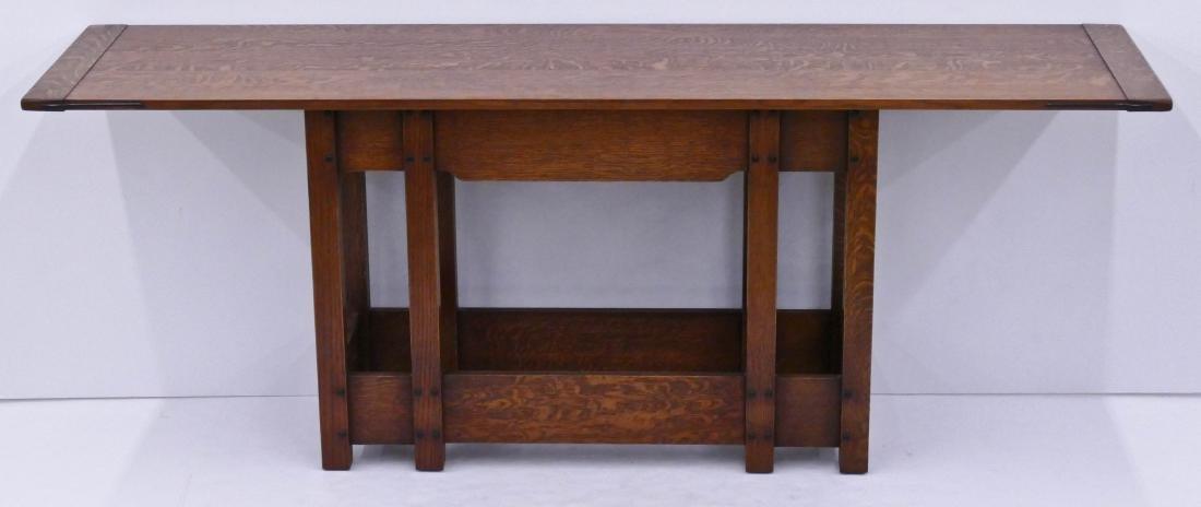 Warren Hile Studio Oak Console Table 28.5''x81''x21''.
