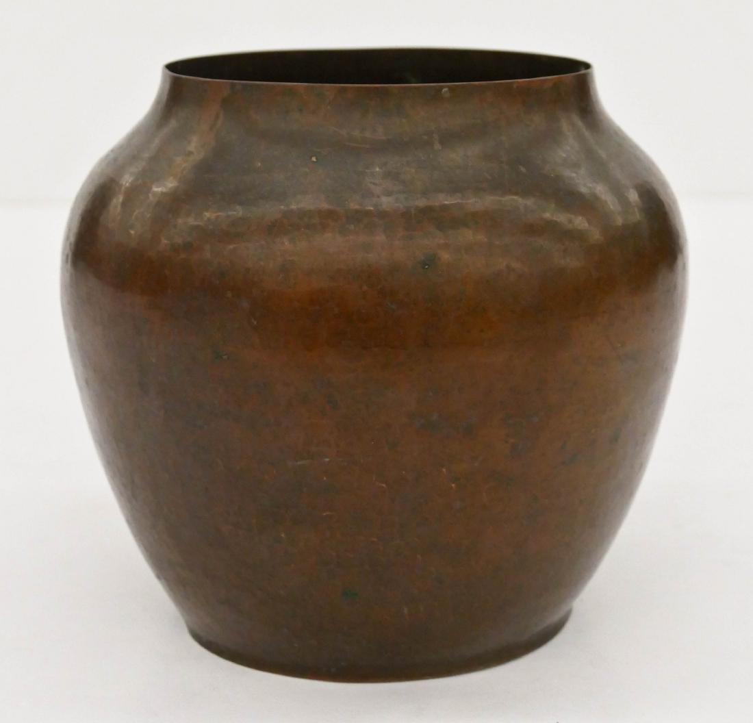 Dirk Van Erp Hammered Copper Vase 6.25''x7''. High