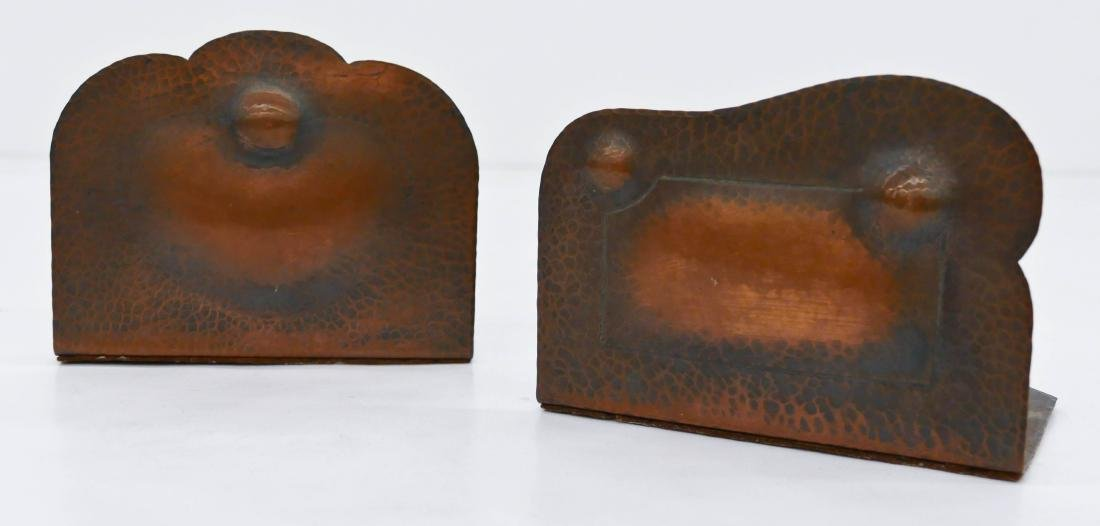 Pair Albert Berry Arts & Crafts Copper Bookends