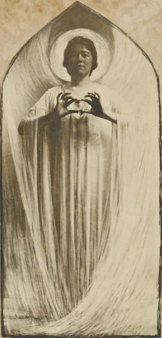 Anne Brigman (1869-1950 American) Angel Holding Crystal
