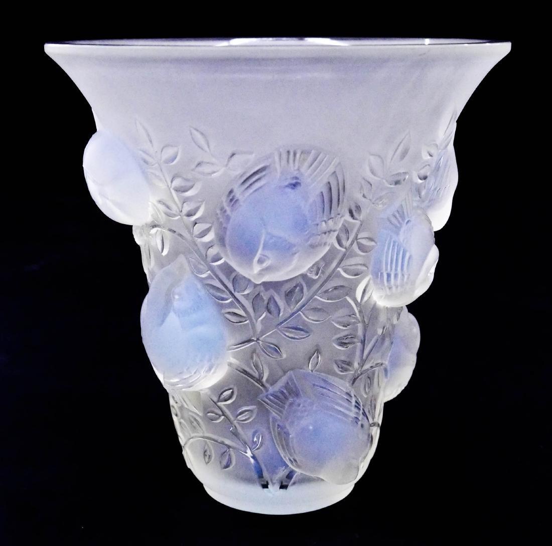 R. Lalique ''St. Francois'' Opalescent Glass Vase