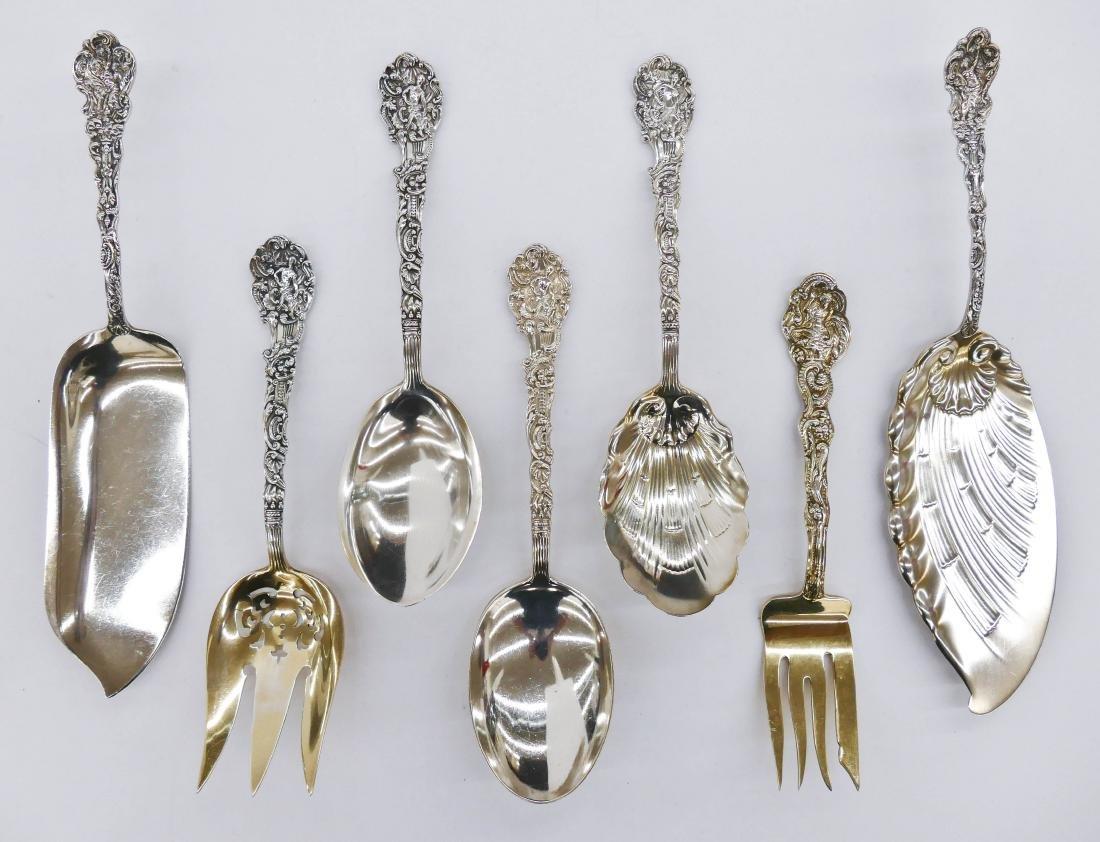 19pc Gorham ''Versailles'' Sterling Serving Pieces.