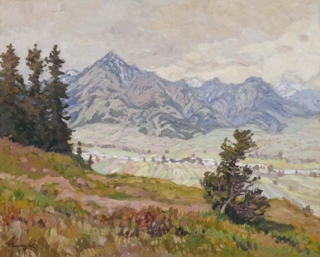 Ota Bubenicek (1871-1962 Czech) Mountain Landscape 1919