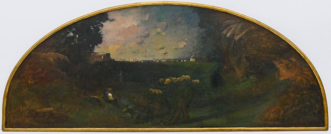 George Inness Jr. (1854-1926 American) Shepherd