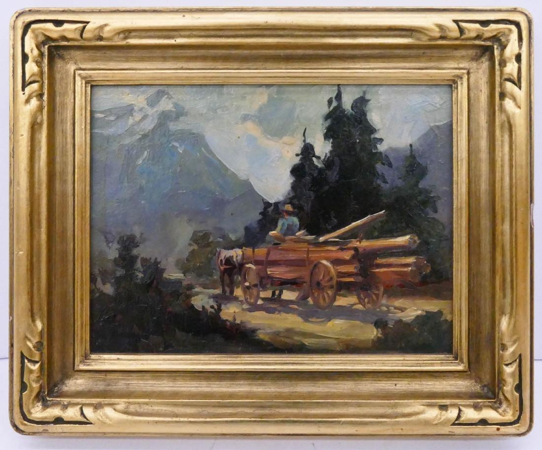 Merlin Enabnit (1903-1979 Washington) ''Log Haulin, Mt.