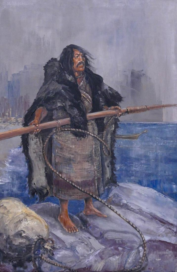 Nancy McLaughlin (1932-1985 Montana) Makah Whaler Oil