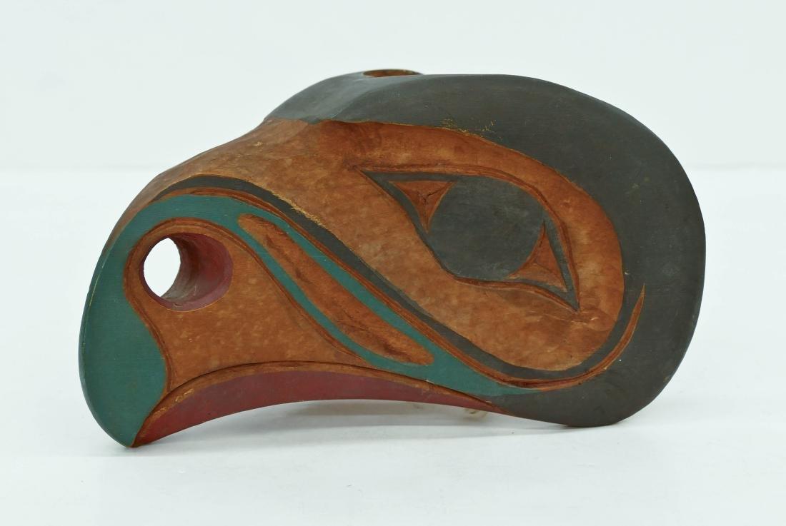 Old Tlingit Eagle Forehead Mask Painted Cedar