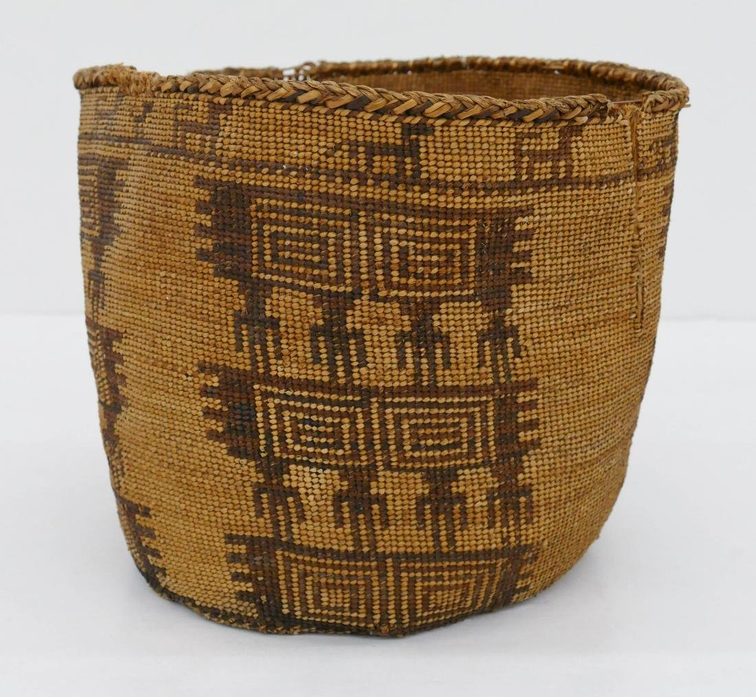 Old Southwest Pictorial Indian Basket 10''x10''. An