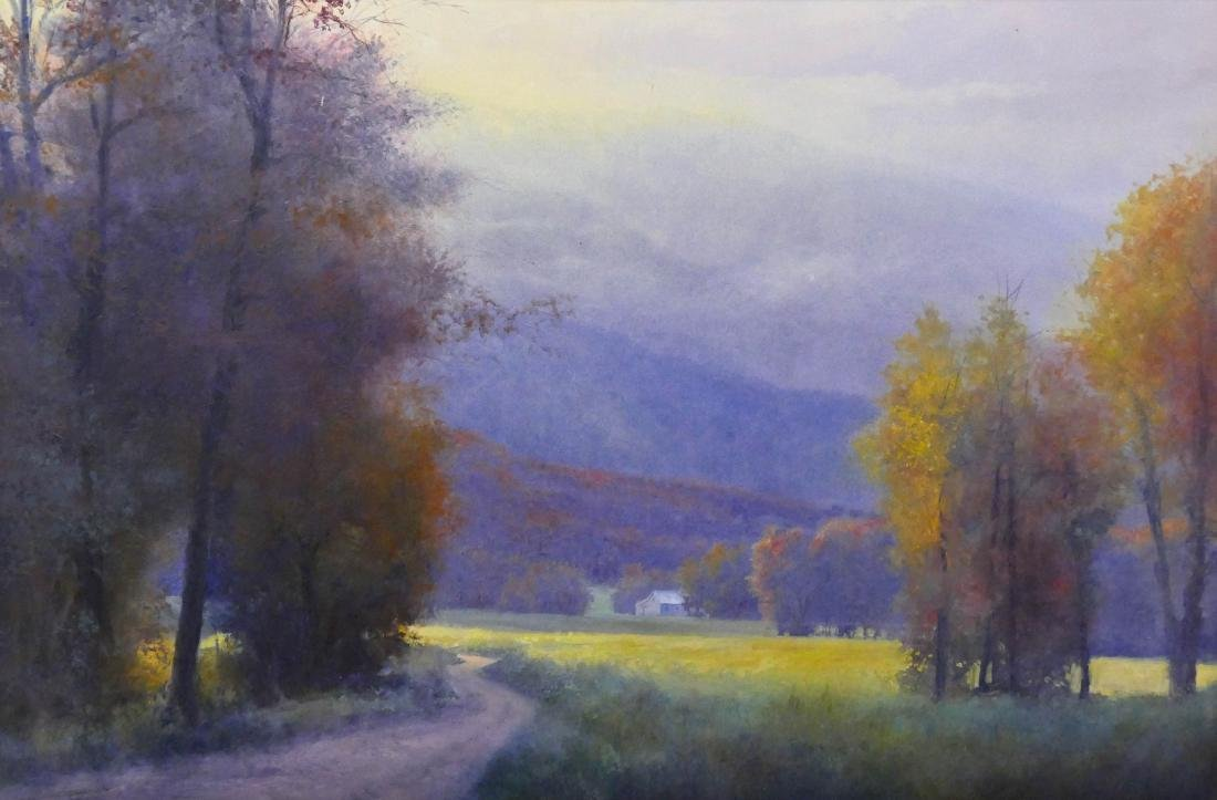 Contemporary ''Jeremiah Run'' Virginia Landscape Oil on