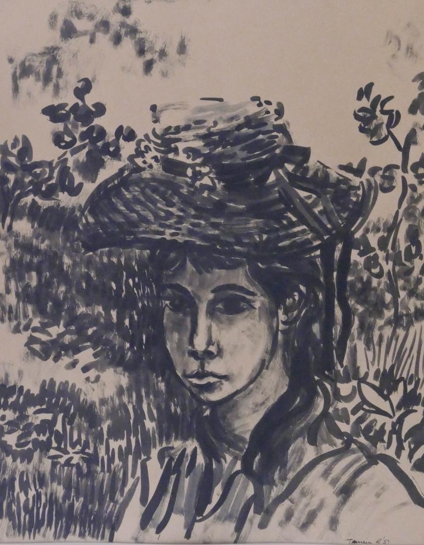 Howard Rogovin (b.1927 New York) ''Tamara'' 1957