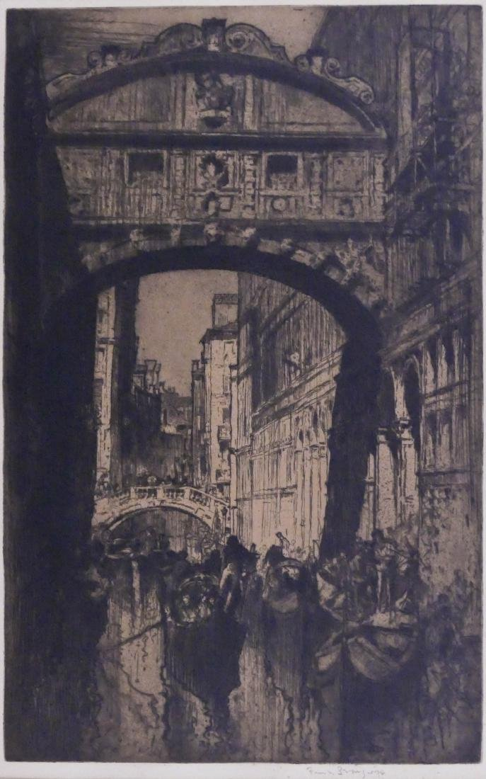 Frank Brangwyn (1867-1956 American) ''The Bridge of