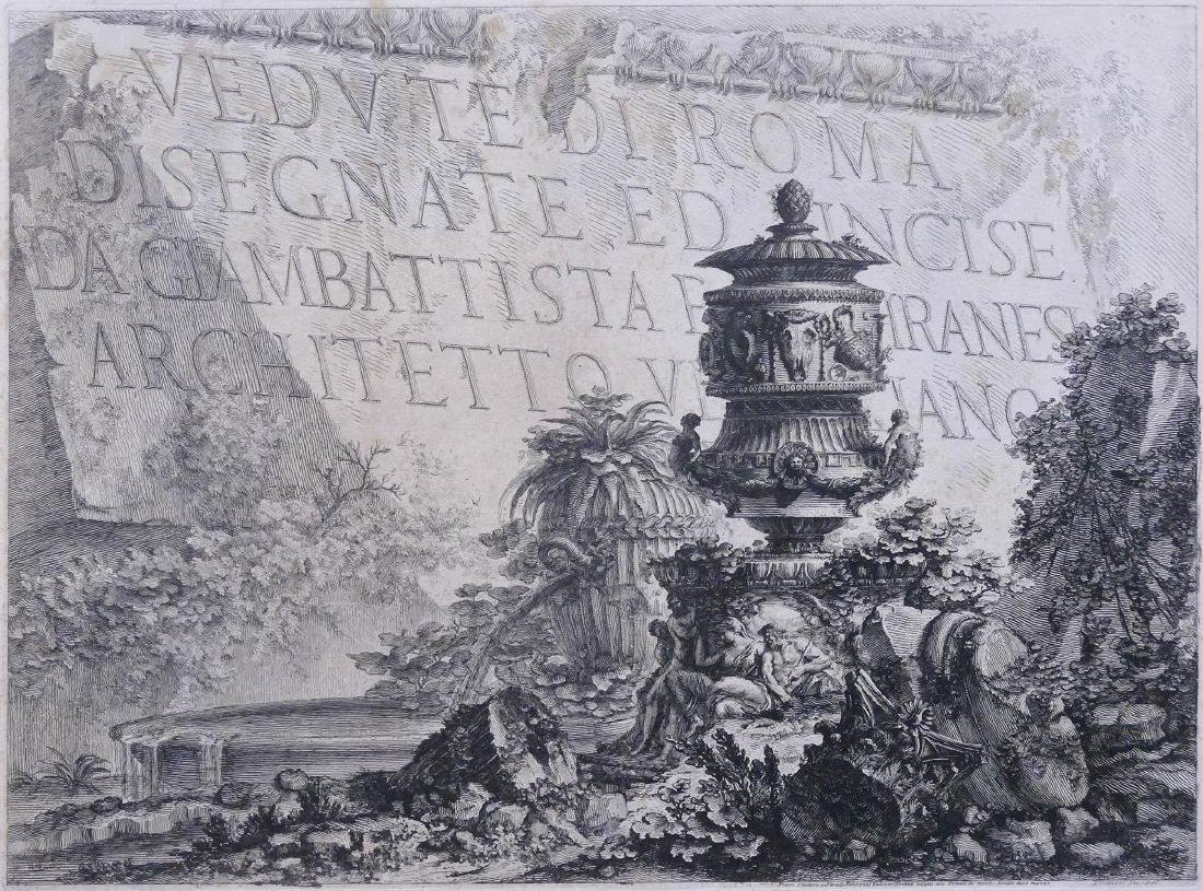 Giovanni Piranesi (1720-1778 Italian) ''Vedute di