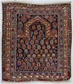 Antique Shirvan Caucasian Prayer Rug 4'x4'5''.