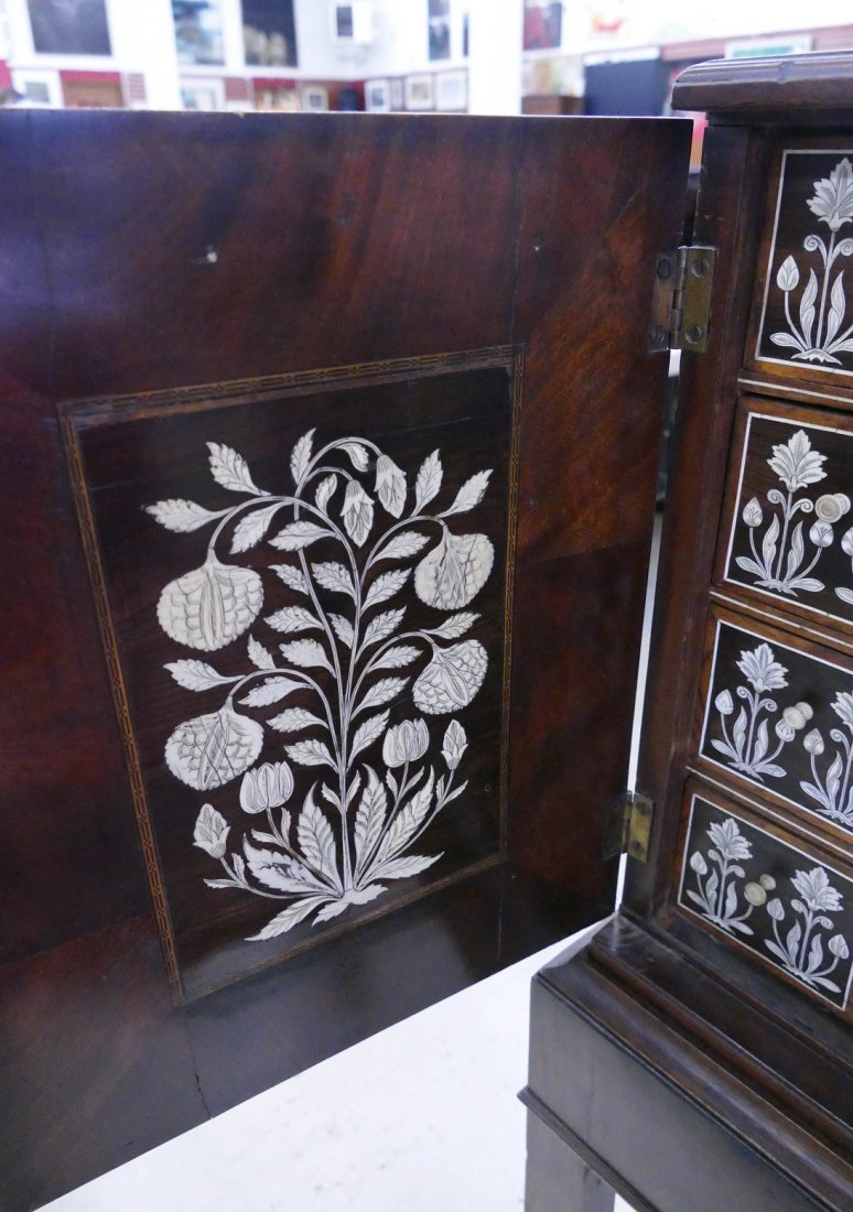 Fine Indo-Portuguese Inlaid Rosewood Collector's Cabine - 10