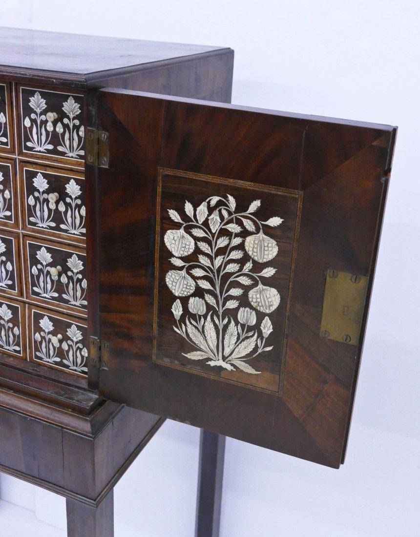 Fine Indo-Portuguese Inlaid Rosewood Collector's Cabine - 3